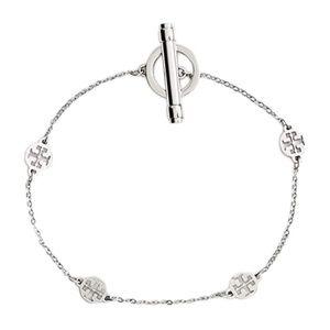 TORY BURCH • Silver Logo Toggle Station Bracelet